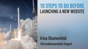 Steps before launching a WordPress Website
