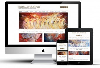 Mobile responsive website for an Artist