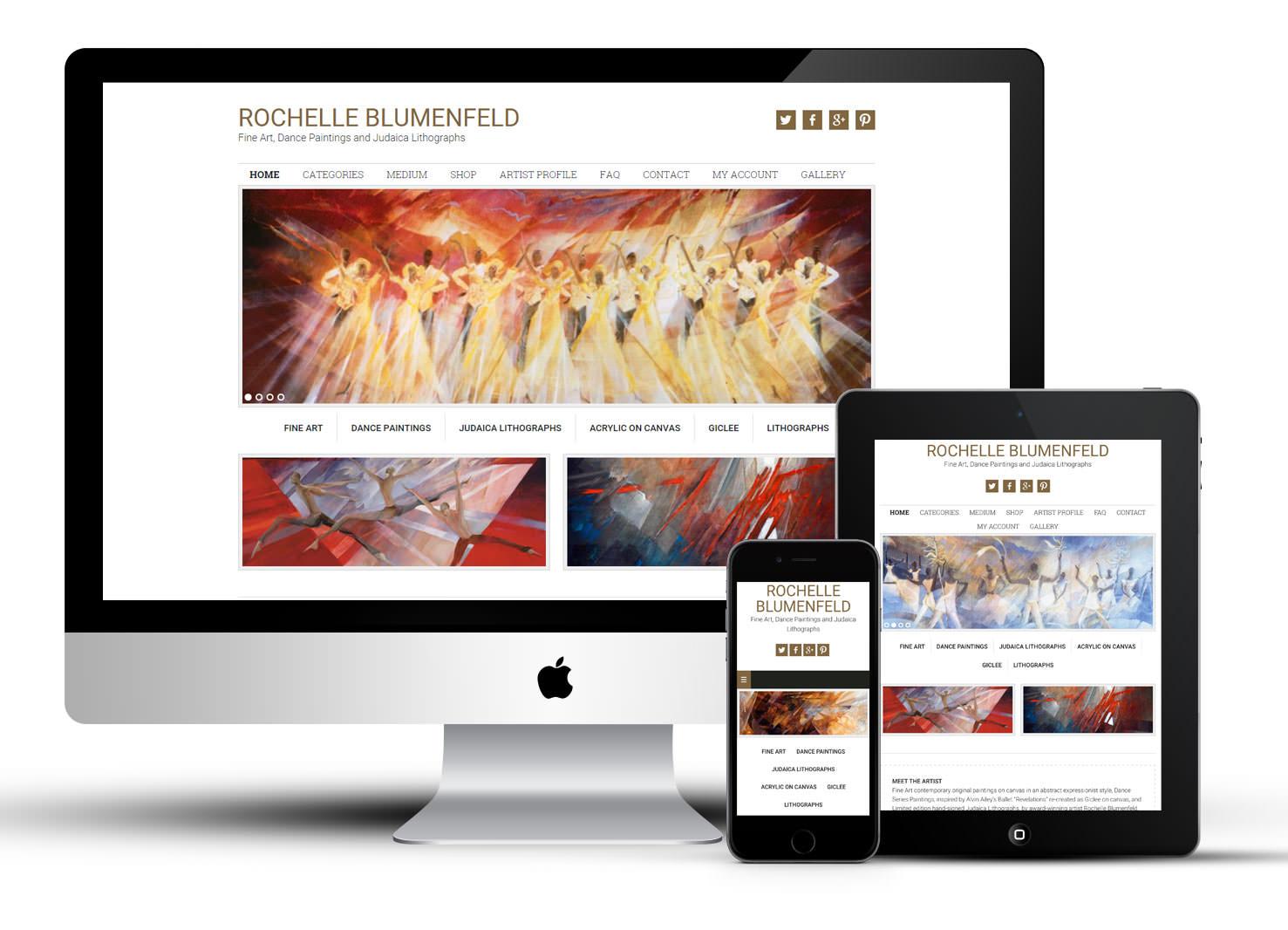 Mobile responsive website for an Artist