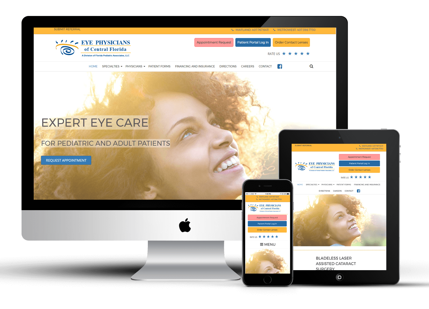 Responsive Website for Eye Physicians