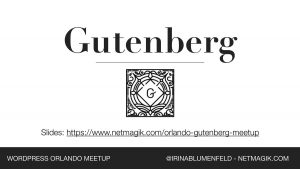WordPress Orlando Gutenberg Meetup