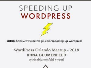 Speeding-Up-WordPress Presentation