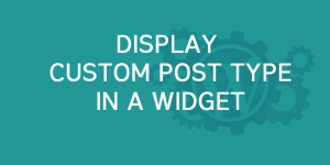 Display custom post types in a widget