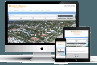 Mobile responsive real estate website