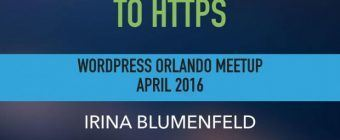 Migrate WordPress to HTTPS presentation