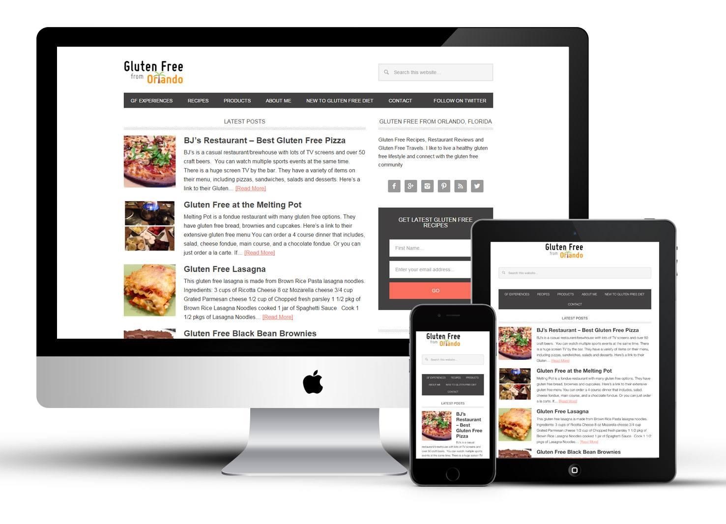 website for a food blog