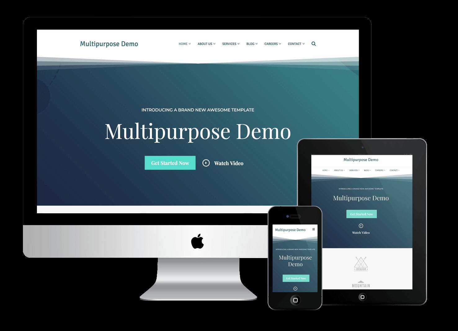 Multipurpose Demo Mobile Responsive
