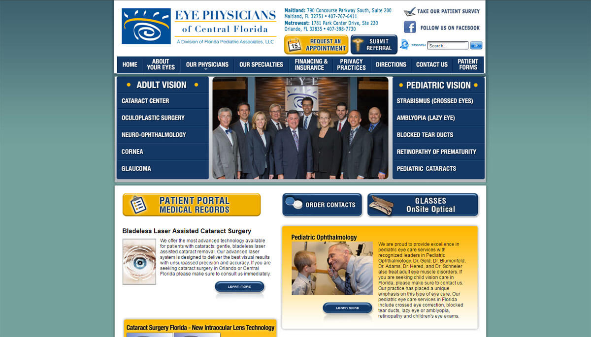 Old Website for Eye Physicians