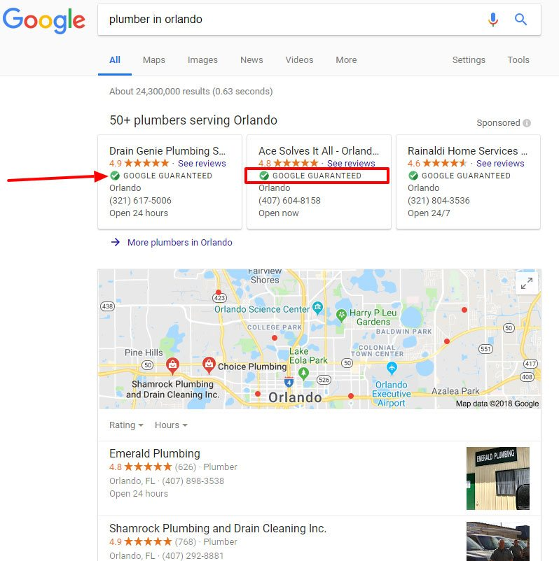 Local Search Ads Example
