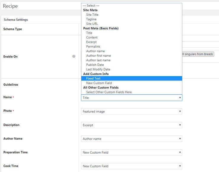 Schema Pro custom fields