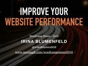 Improve Website Performance Presentation