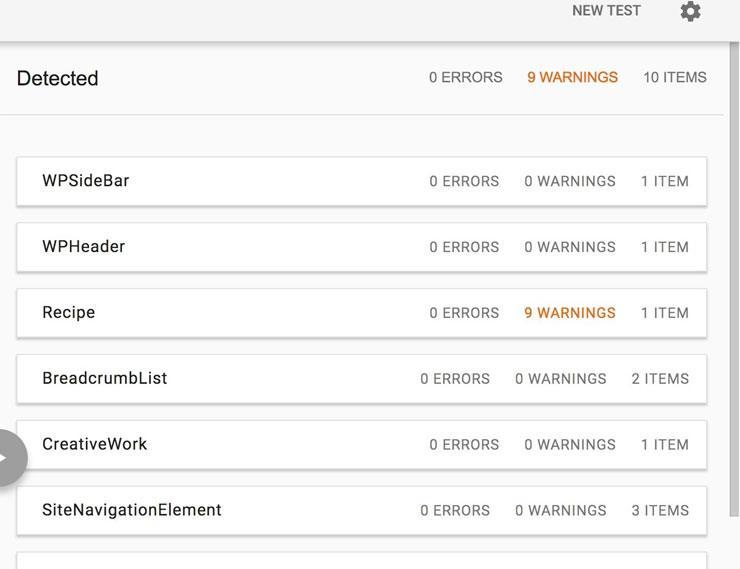 Schema Test Tool Results