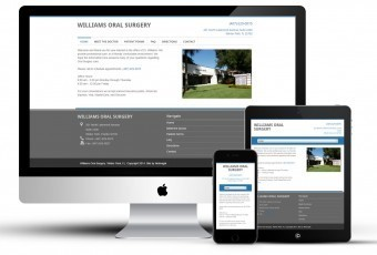 Mobile responsive website for oral surgeon